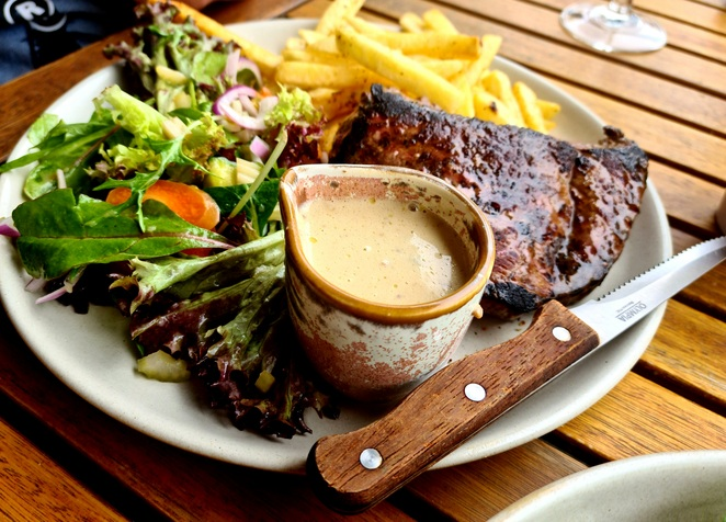 Steak, special, lunch, views, waterfront, casual, food, drinks
