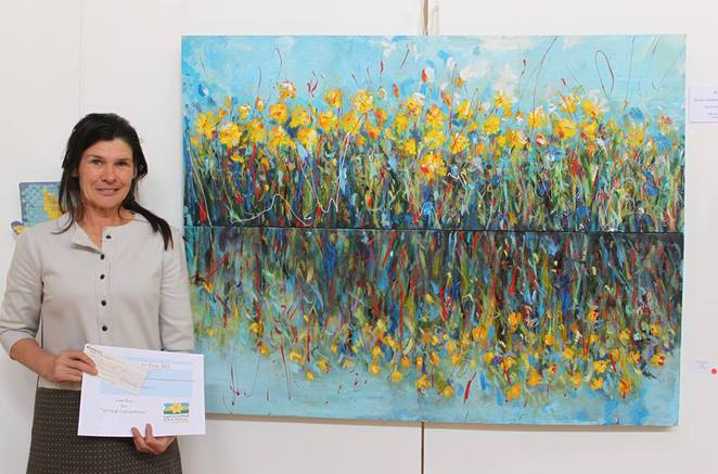Sue Key, winner of the 2013 Daffodil Art Prize with 'Spring Cacophony'