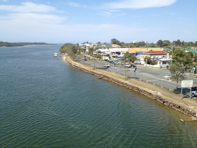 The view from the Maroochy River Bridge