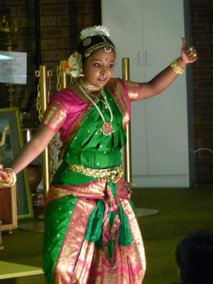 A traditional dance performance at the Sunday Feast in Pert. Image is from the ISKCON Perth Facebook page (by Dipen Gohel).