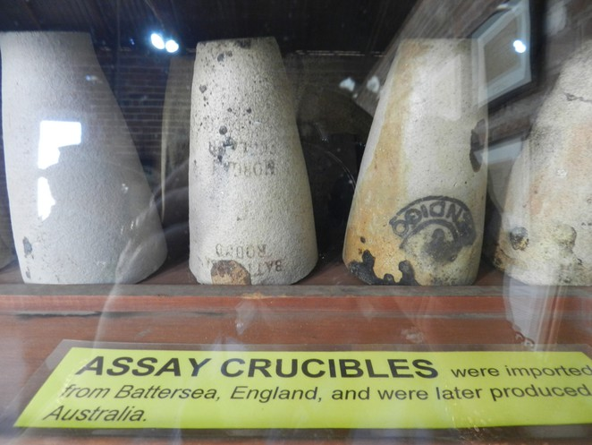 assay crucibles, assay museum, assay room, assay equipment, charters towers, museums in charters towers, gold mining history in australia,