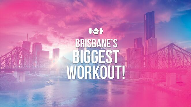 brisbane's biggest workout, anytime fitness australia, captain burke park, community event, fun things to do, charity, fundraiser, are you o k, health and fitness, mental health awareness, fitness initiative, suicide prevention