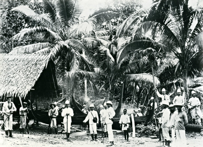 burrinja gallery exhibition, points of focus, historic pictures of the Pacific, photographic exhibition, history, curator takl, macleay museum, rebecca conway, university of sydney.