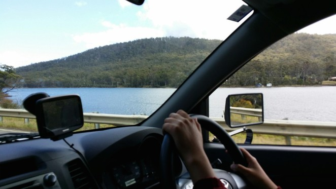 Driving on Tasmanian roads