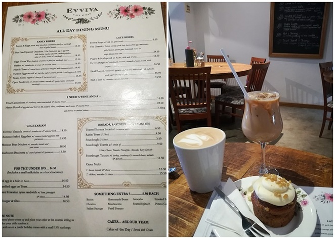 Evviva's cafe and bar, nelson bay, port stephens, cafes, breakfast, lunch, dinner, eggs benedict, granola, coffee, best coffee, lunch, dinner, bar, drinks, functions, art classes, NSW, menu, cake,