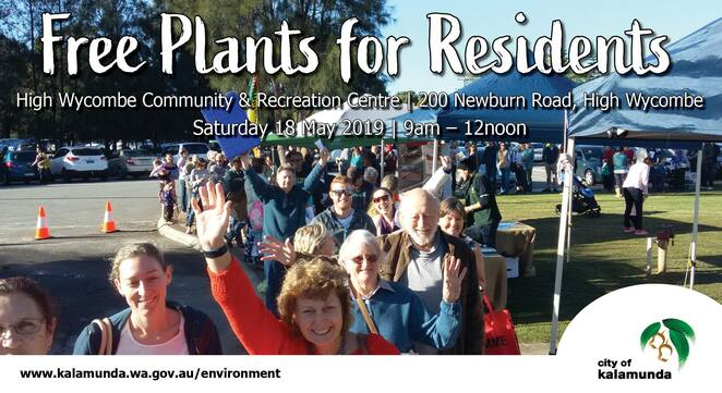 free plants for residents day 2019 high wycombe, city of kalamunda, high wycombe community and recreation centre, community event, free plant event, fun things to do, gardening, free native plants, environmentally friendly, kids activities, gardening tips, first come first serve, water saving plants