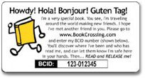 Book Crossing label