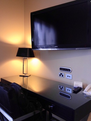 Grand Mercure Melbourne Flinders Lane Apartments Signature Suite working study table LCD television