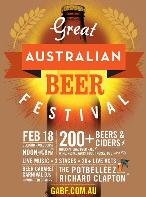 great australian beer festival, geelong racecourse, international beer hall, restaurants, food, beer cabaret, carnival, dj, roving performers, the potbelleez, richard clapton, live music, live acts, international beer hall, the potbelleez, richard clapton, community event, fun things to do, aussie summer