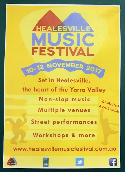 healesville music festival, bands, acts, artists, dancing, workshops, concerts, camping, yarra valley