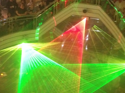 The Laser Show in the Atrium, P&O Pacific Pearl (c) JP Mundy