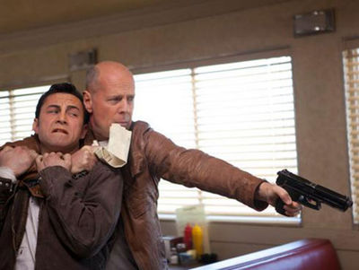 Joseph Gordon-Levitt and Bruce Willis
