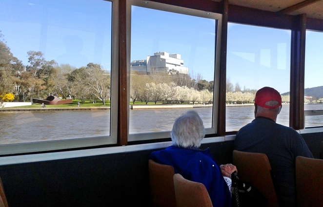 lake burley griffin cruises, canberra, seniors, over 70s, ACT, lake cruises,