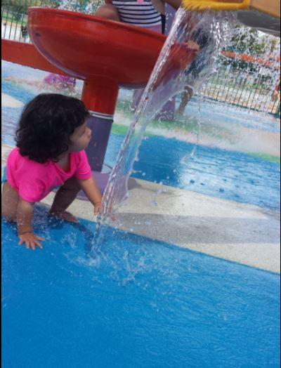 Leanyer Water Park, toddler, water play, Darwin