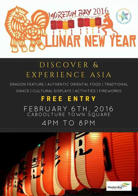 Lunar new year 2016, chinese new year, caboolture events, moreton bay shire council