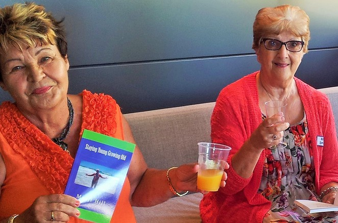 Marji Hill, book launch, Canberra, Staying Young Growing Old, self-help, Amazon Kindle,