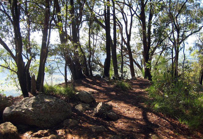 The summit of Mt Edwards has plenty of shade, rocks to sit on and great views