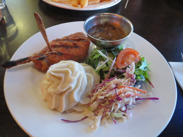 Outback Jacks Bar and Grill, Pork Rib Eye, Adelaide