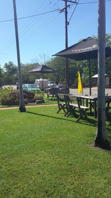 outdoor sitting, cafe, Mayse's Cafe, Pine Creek