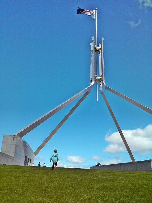 parliament house, rooftop, canberra, ACT, things to do with kids, fun for kids, rooftop of parliament house,