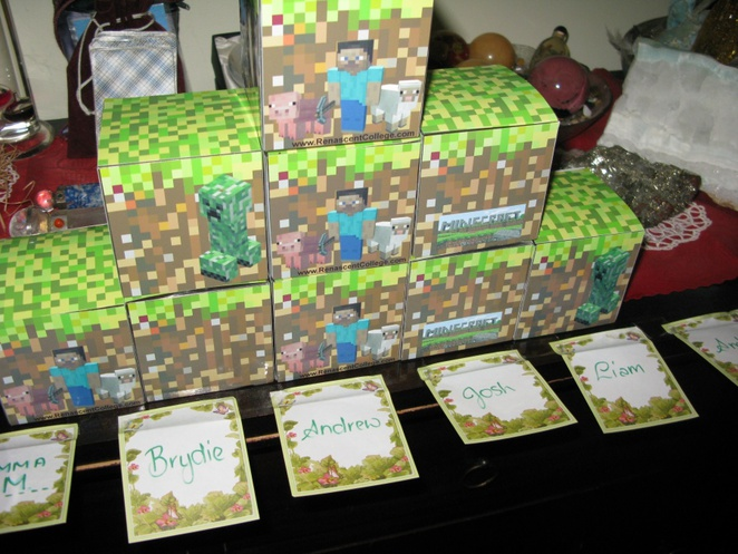 party bags, Minecraft kits
