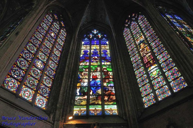 Saint-Maurice's, church windows, lille, france