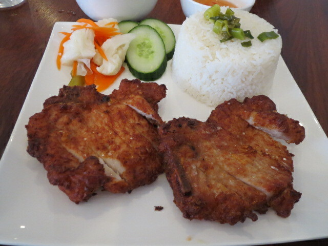 Thanh Viet Restaurant, Pork Chop with Broken Rice, Adelaide