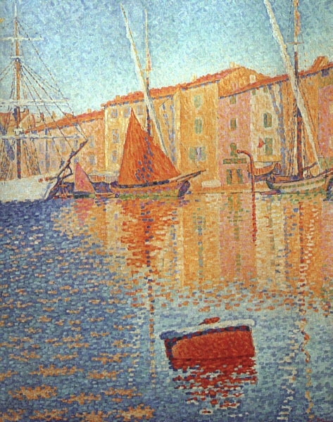 The Red Buoy St Tropez 1895 by Paul Signac