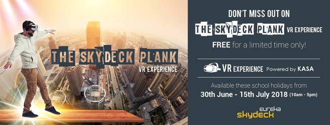 the skydeck plank vr experience, eureka skydeck 88, the edge, community event, fun things to do, school holiday activity, the plank, virtual reality experience, balancing act, staggering heights, skydeck admission, thrilling experience