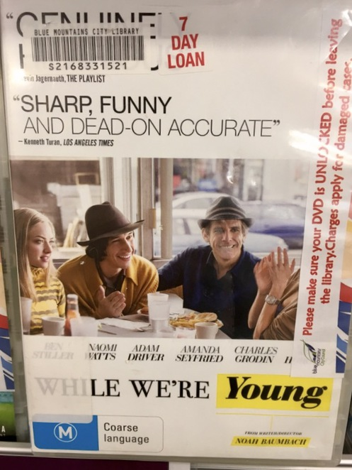 Whilst we're young, Ben Stiller, Naomi Watts, Amanda Seyfried, DVD, blue mountains library