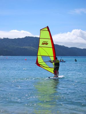 Windsurfing on Catseye Beach, Hamilton Island - requires prior lesson.