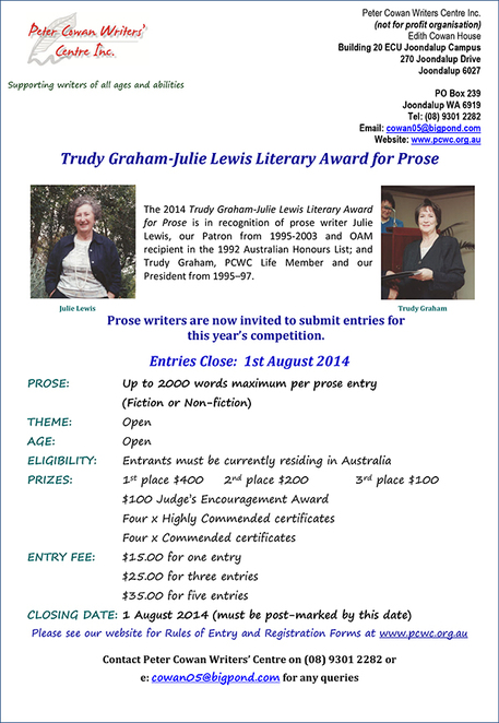 Writing Competition, Peter Cowan,