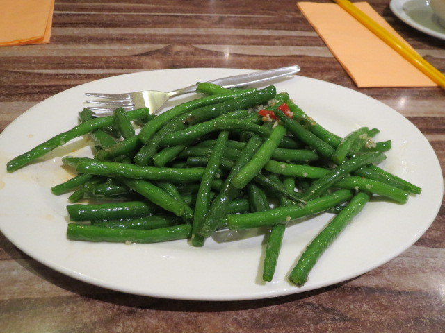 Ying Chow Restaurant, Long Beans with Chilli & Garlic, Adelaide