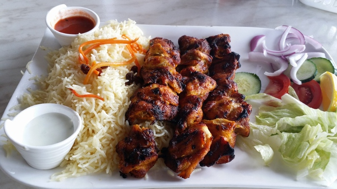 Afghan Charcoal Kebab Village's Chicken Skewers, Adelaide