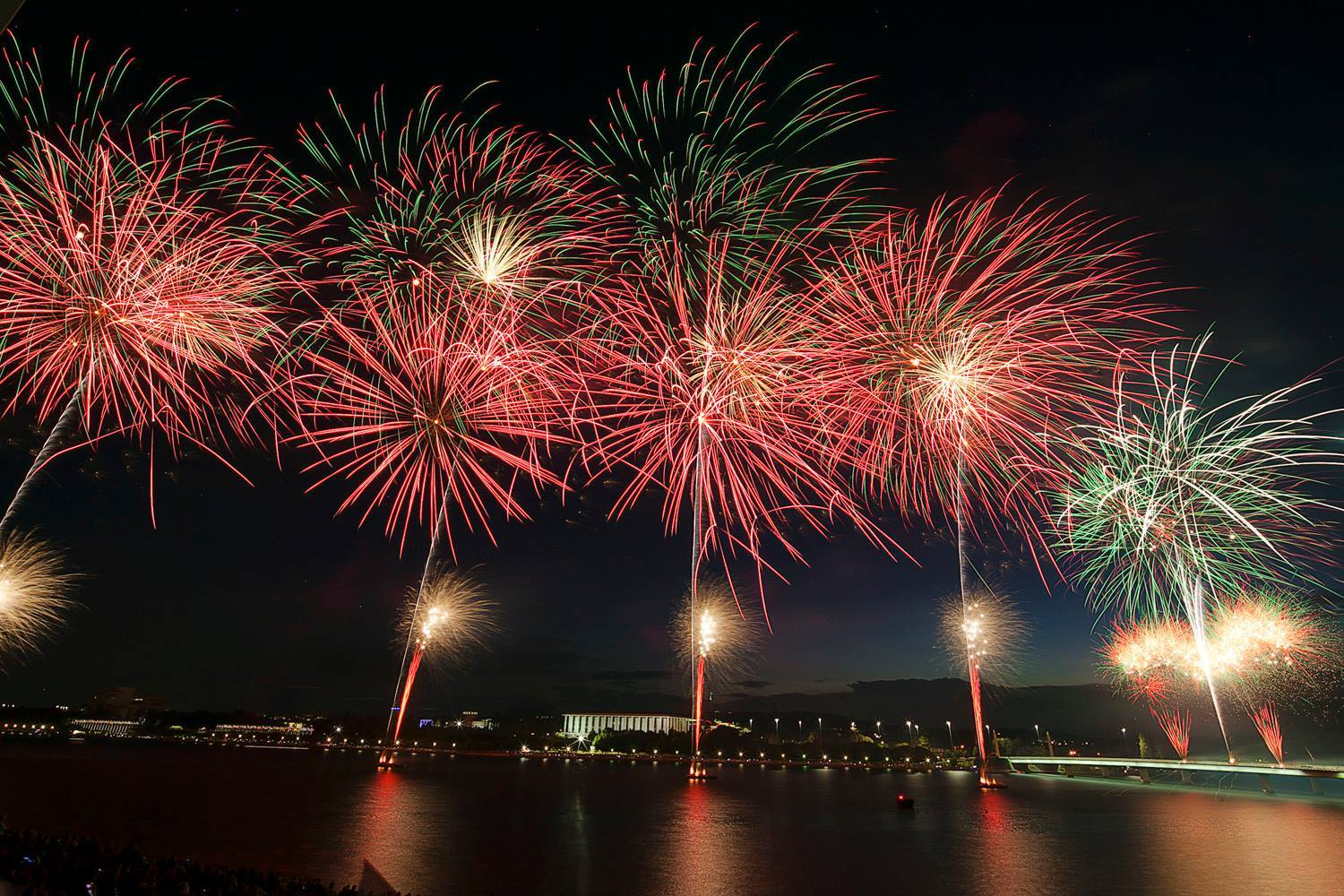 australia day 2018 fireworks regatta point canberra act what s on