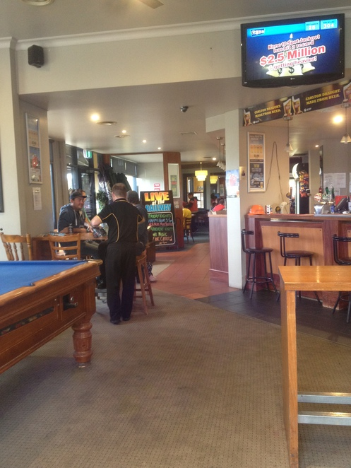 Part of the bar area, Railway Hotel
