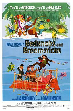 Bedknobs and Broomsticks, movies about witches, family friendly movies about witches, halloween, witchcraft, Disney films, children's movies, Angela Lansbury