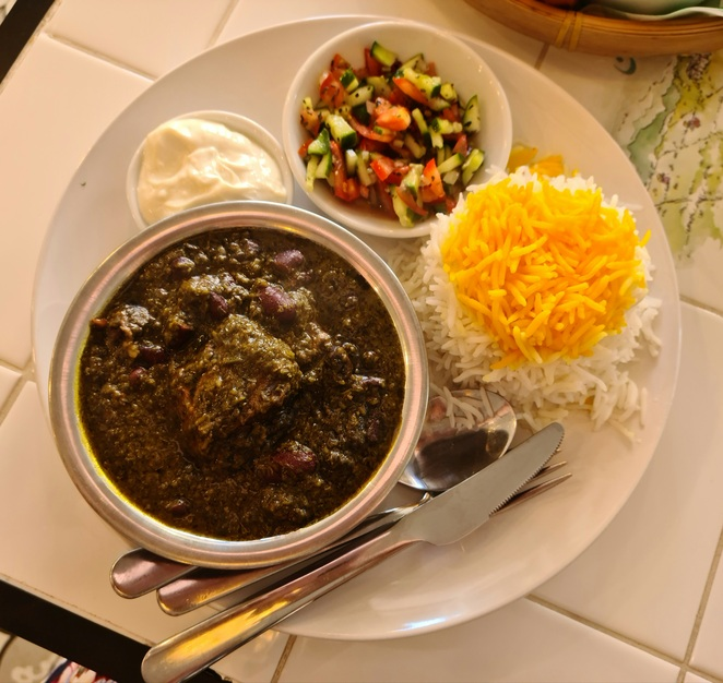 Beef, stew, herbs, lunch, Persian, Balmain, authentic, delicious