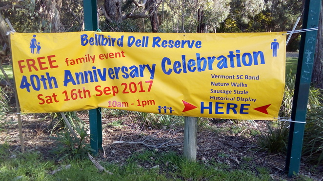 Bellbird Dell Reserve, Free family day, 40th anniversary, vermont south, vermont secondary college band, sausage sizzle