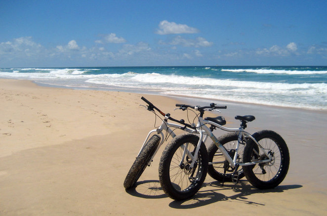 Bicycles on the Beach at the Gold Coast