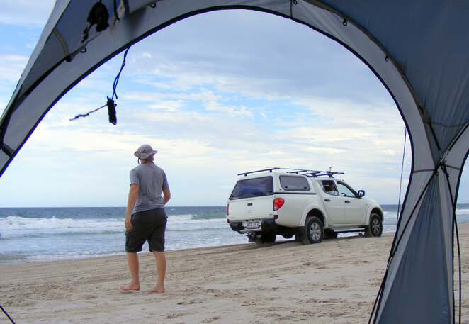 Bribie Island can be explored further if you have a 4WD