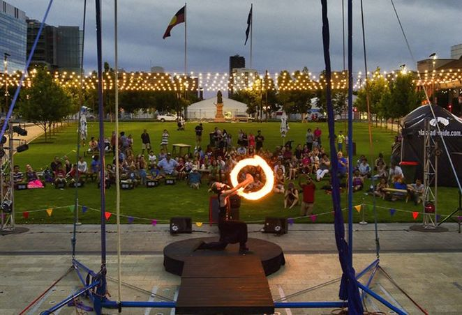 cirque nocturne, litha, free , adelaide, parklands, east end, circus, victoria square