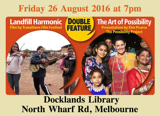 ethical network event, landfill harmonic, the art of possibility, the possibility project, moral fairground, transitions film festival, documentary, actors, docklands library, movie, film, eventbrite, cultural event, community event, recycled orchestra, paraguay, kim pearce, fun things to do