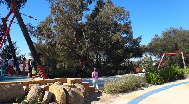 flying fox, perth, playground, woodbridge, riverside, swan river, sensory, inclusive