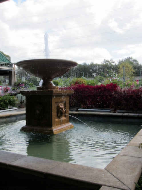 fountain, verdant cafe, gardenway, water feature