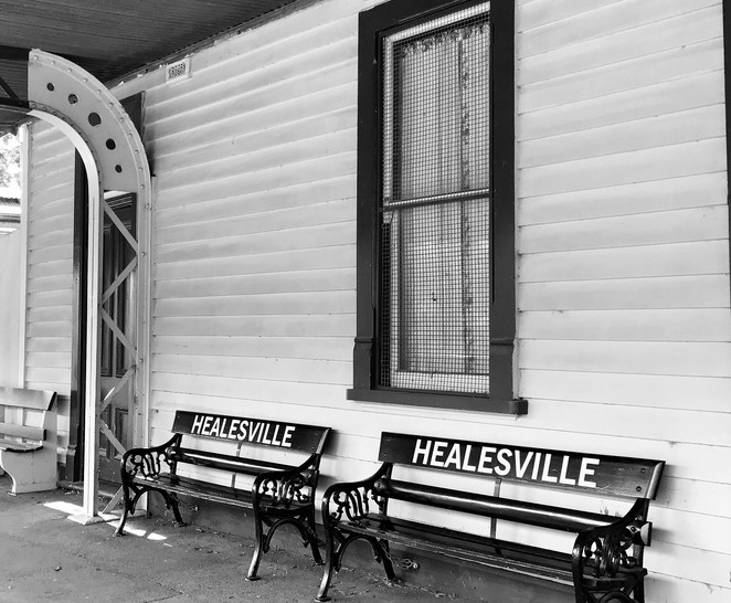 ghost train, halloween, healesville historical walk, yarra valley railway, healesville