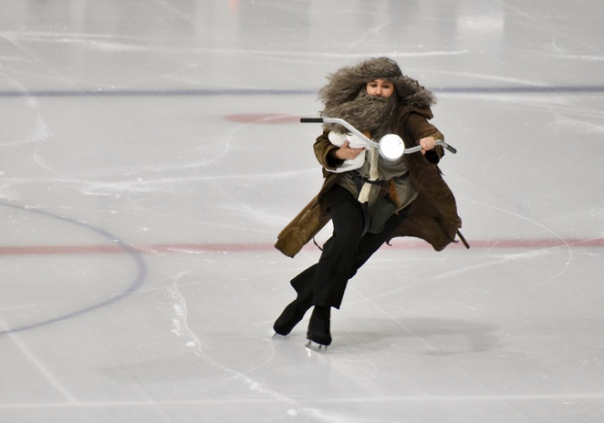 Harry Potter on Ice, Harry Potter, sorting hat scene, image by Jade Jackson, JK Rowling, Pottermore, Hermione, Ron Weasley, Harry Potter spell class