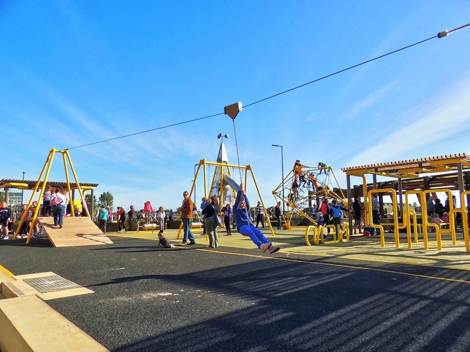 harts mill market, harts mill precinct, harts mill playground, harts mill, wild at heart market, port adelaide inner harbour, port adelaide loop path, play equipment, activities for kids, flying fox
