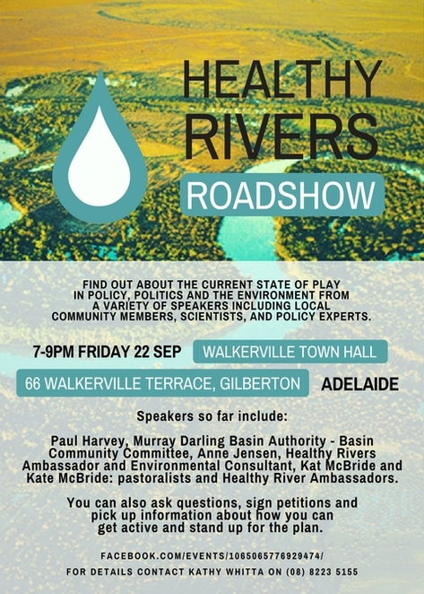 Healthy Rivers Roadshow is coming to Adelaide