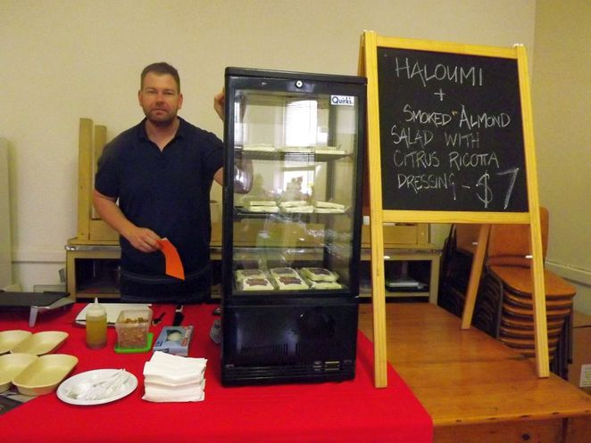 manoora, manoora hall twilight market, manoora hall, manoora hall markets, manoora institute, manoora hotel, market stalls, gilbert valley, south australia, haloumi cheese